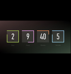 Countdown clock counter timer coming soon vector