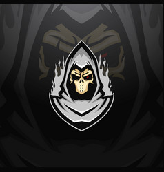 Death esports mascot logo vector