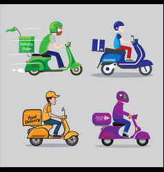 delivery order food vector image