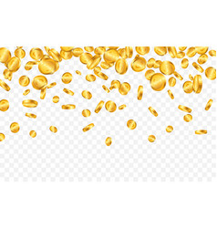falling from top a lot euro gold coins on vector image