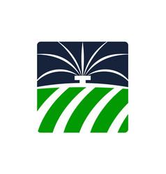 Farm irrigation systems vector