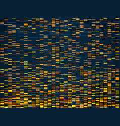 Genomic visualization dna genomes sequencing data vector