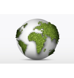 globe with a green grass vector image