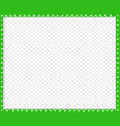 Green and white rectangle border of cats paws vector