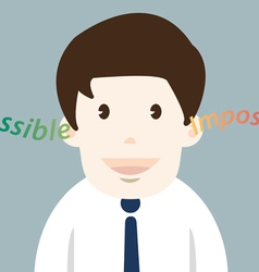 Happiness businessman possible thinking vector