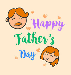 happy father day cute style collection vector image