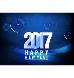 Happy new year 2017 with fireworks vector