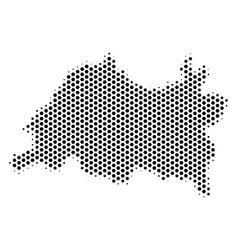 Hex-tile tatarstan map vector