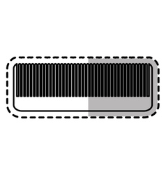 Isolated hair comb design vector
