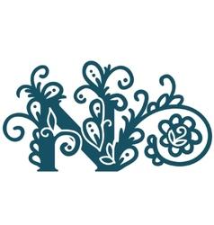 Isolated stylized calligraphic vector image