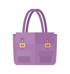 Ladies handbag in flat style Female bag isolated vector image