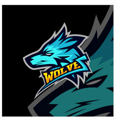 modern professional wolf logo for a sport team vector image