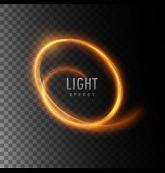 Neon light glowing effect vector
