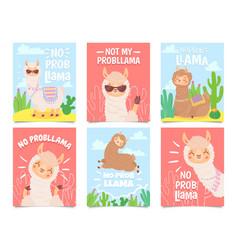 no prob llama posters cute llamas have vector image