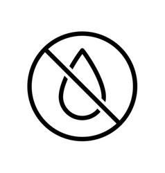 No water drop line style icon liquids vector