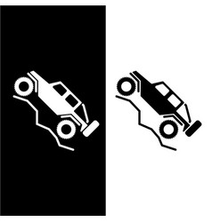 off road 4wd recreational vehicle logo vector image
