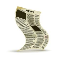 Old newspaper vector