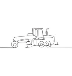 one single line drawing metal roller vector image