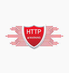 Outdated and dangerous http protocol alert to vector