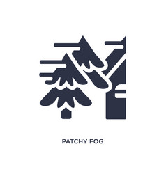 Patchy fog icon on white background simple vector