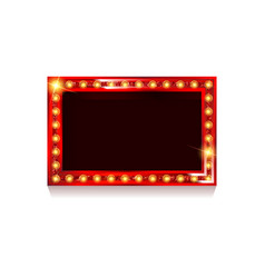 Red frame with light bulbs vector