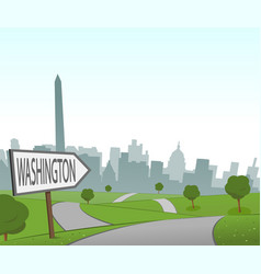 road to washington vector image