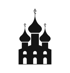 Russian orthodox church simple icon vector image