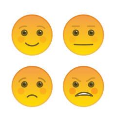 sad and joyful emoticons isolated on white vector image