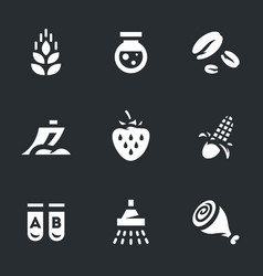 Set of gmo icons vector