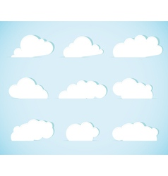 Set of paper clouds vector image