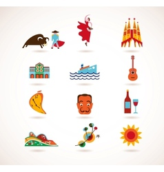 spain love - set icons vector image