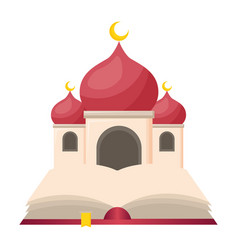 Taj mahal and holy quran vector