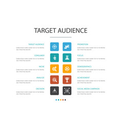 Target audience infographic 10 option concept vector