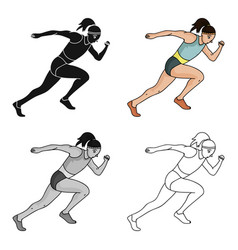 The girl is engaged in athleticsthe olympics in vector