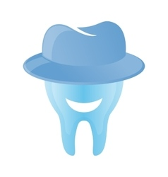 Tooth logo in hat vector image