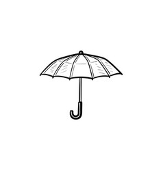 Umbrella hand drawn sketch icon vector