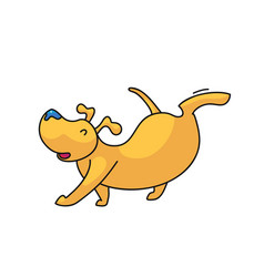 walking dog icon vector image