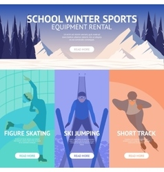 Winter sport banner vector