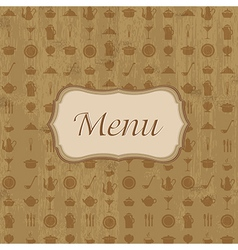 Wood Background With Menu vector