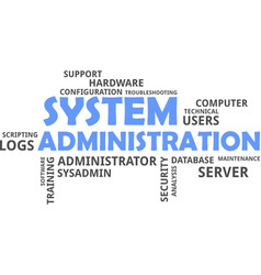 Word cloud - system administration vector