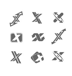 abstract icons letter x vector image vector image