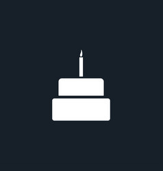 cake icon simple vector image