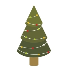 colorful green abstract christmas tree with trunk vector image vector image