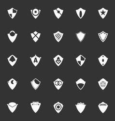 Design shield icons on gray background vector image