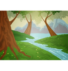 Green forest nature background vector image vector image