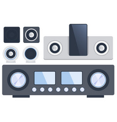 home sound system stereo flat music vector image vector image