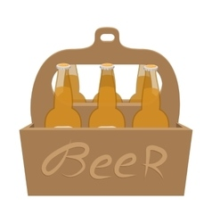 Packaging with beer cartoon icon vector