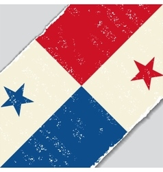 Panama grunge flag vector image vector image
