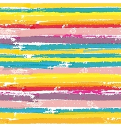 Seamless pattern with paint color stripes vector image