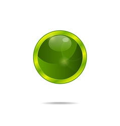 abstract eco green bubble isolated - vector image vector image